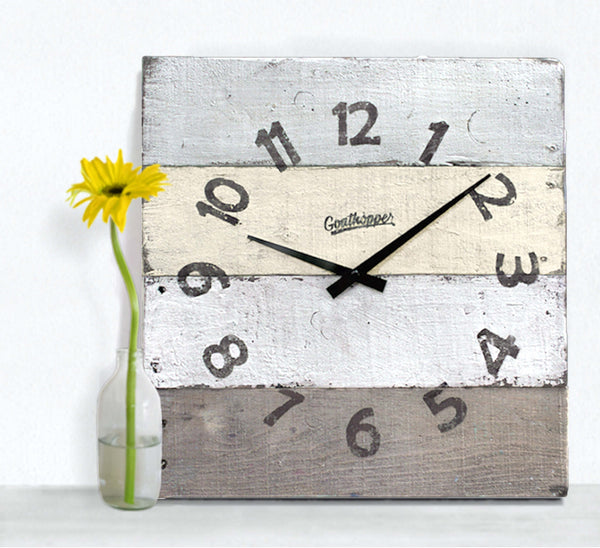 Yellow & Brown Outdoor Wall Clock - Muskegon-Goathopper-1