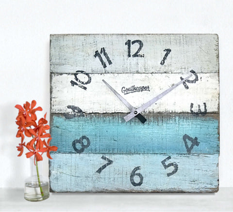 Curiously Cool Moody Blues Beach Wall Clock - Everglades