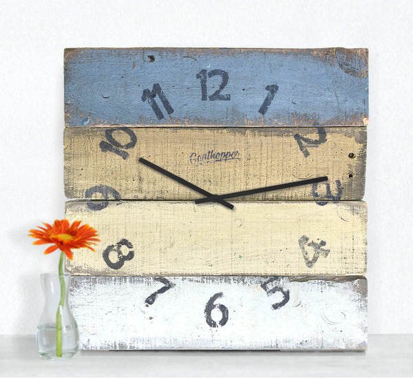 Eggplant Mustard Kitchen Wall Clock - Pickwick-Goathopper-1