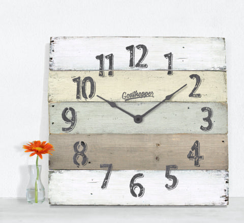 Yellow & Brown Extra Large Wall Clock - Fenwick-Goathopper-1