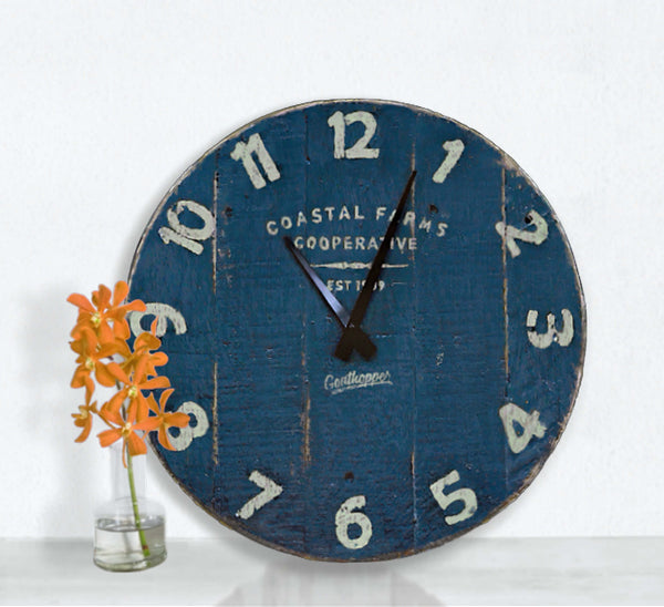 Navy Blue Farmhouse Wall Clock - Hermosa-Goathopper-1