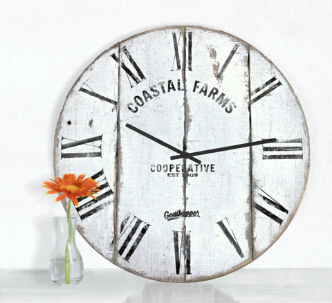 White Farmhouse Clock - Dunlop