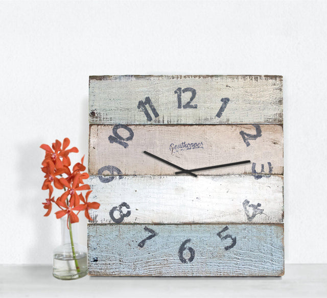 Blue & Tans Distressed Wall Clock - Shasta-Goathopper-1
