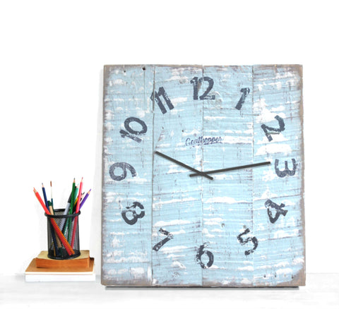 Blue & White Beach Clock - Edisto-Goathopper-1