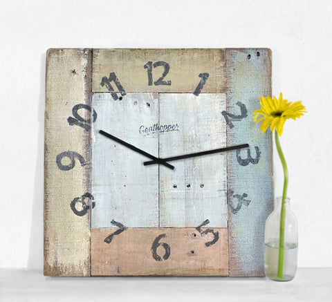 Natural Hues Farmhouse Wall Clock - Bowers-Goathopper-1