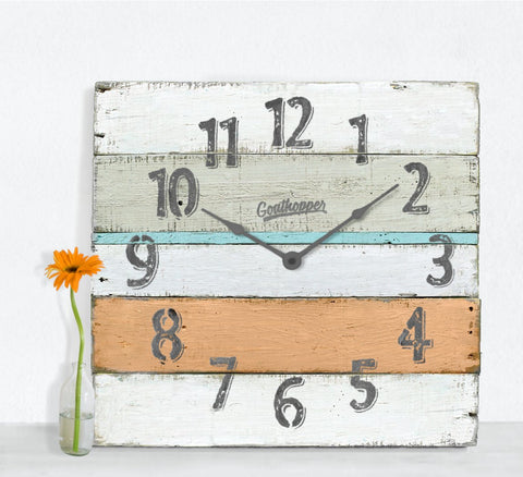Orange Aqua Grey Extra Large Wall Clock - Lanier-Goathopper-1