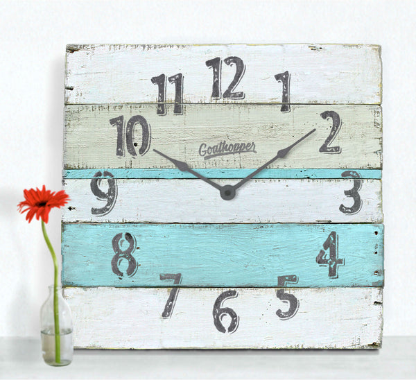 Lagoon Blue Grey Extra Large Wall Clock - Winthrop-Goathopper-1