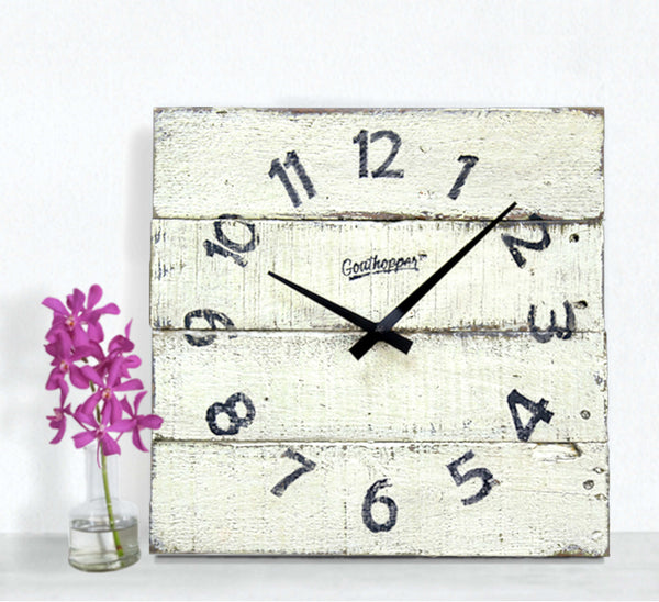 Banana Yellow Rustic Kitchen Wooden Clock - Caswell-Goathopper-1