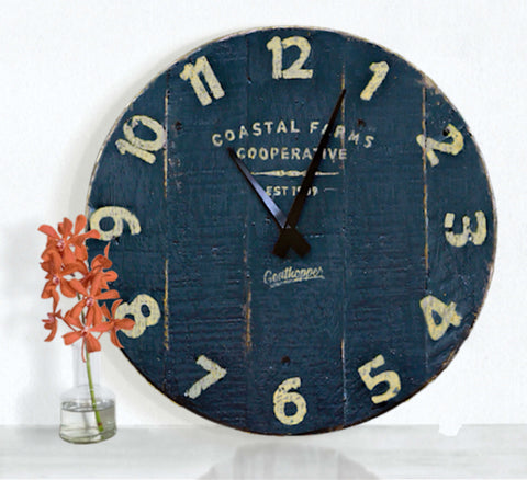 Dark Chocolate Farmhouse Wall Clock - Avalon-Goathopper-1