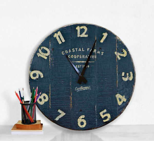 Dark Chocolate Farmhouse Wall Clock - Avalon-Goathopper-9