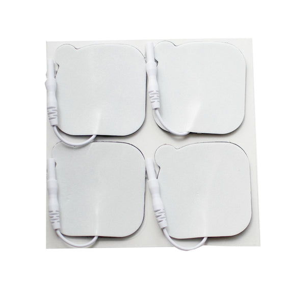 2 in. x 2 in. Square - White Foam Top Electrodes Case of 10 (4/pk)