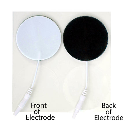 2 in. Round - White Foam Top Electrodes Case of 10 (4/pk)