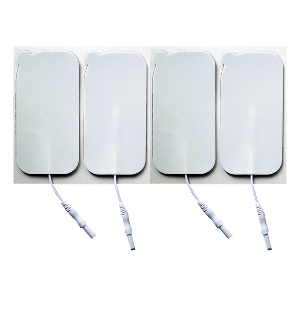 2 in. x 4 in. Rectangle - White Foam Top Electrodes Case of 10 (4/pk)
