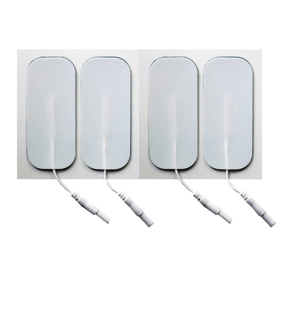 1.5 in. x 3.5 in. Rectangle - White Foam Top Electrodes Case of 10 (4/pk)