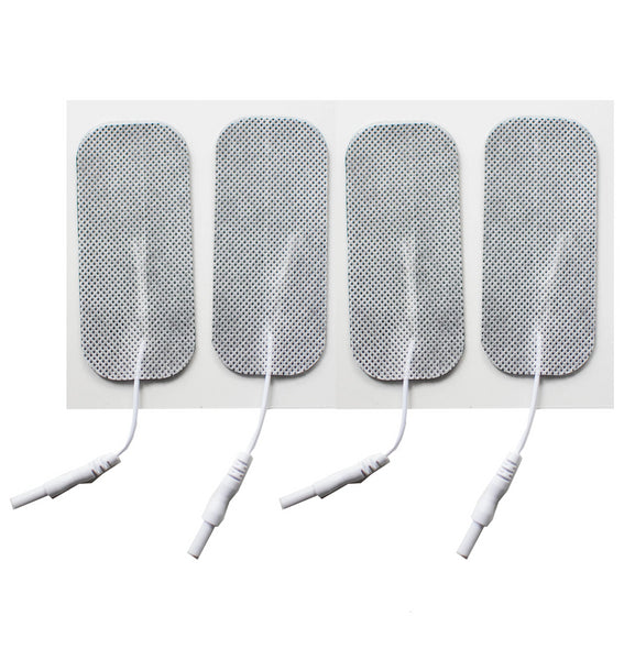 1.5 in. x 3.5 in. Rectangle - White Fabric Top Electrodes Case of 10 (4/pk)