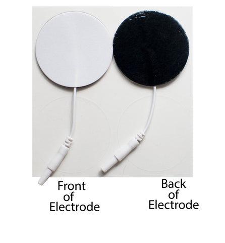 1.25 in. Round - White Foam Top Electrodes Case of 10 (4/pk)