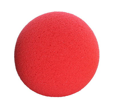 CanDo® Memory Foam Squeeze Ball - 2.5 in. diameter - Red, easy