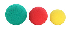 CanDo® Memory Foam Squeeze Ball - 3-piece set (yellow, red, green)