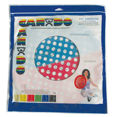 CanDo® Hand Exercise Web - Low Powder - 14 inch Diameter - multi-resistance, Red/Blue