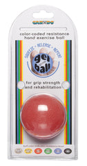 CanDo® Gel Squeeze Ball - Standard Circular - Red - Light