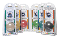 CanDo® Gel Squeeze Ball - Standard Circular - 6-piece set (tan through black)