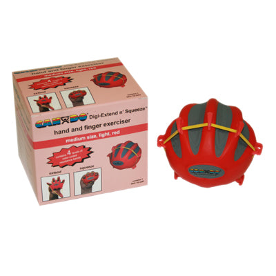 CanDo® Digi-Extend n' Squeeze Hand Exercisers - Medium - red, light