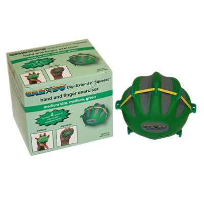 CanDo® Digi-Extend n' Squeeze Hand Exercisers - Medium - Green, moderate