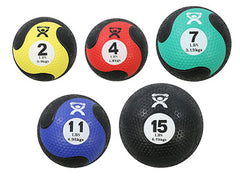 CanDo® Firm Medicine Ball - 5-piece set - 1 each 2,4,7,11,15 lb.