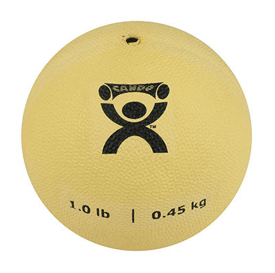 CanDo® Soft Pliable Medicine Ball - 5 in. Diameter - Tan - 1 lb.