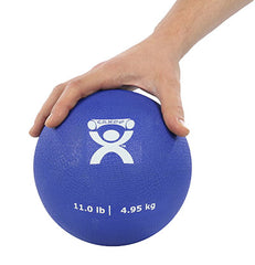 CanDo® Soft Pliable Medicine Ball - 7 in. Diameter - Blue - 11 lb.