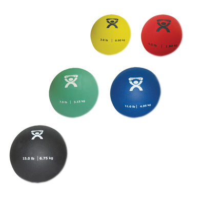 CanDo® Soft Pliable Medicine Ball - 5-piece set - 1 each 2,4,7,11,15 lb.