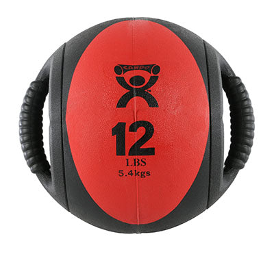 CanDo® Dual-Handle Medicine Ball - 9 in. Diameter - Red - 12 lb.