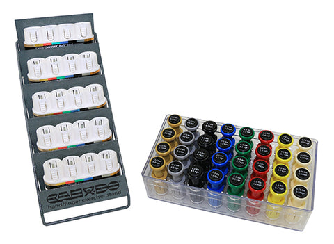 CanDo® Digi-Flex Multi Small Clinic Pack, Deluxe (5 bases plus 32 button sets in case w/rack)