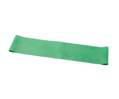 CanDo® Band Exercise Loop - 15 in. Long - Green - medium, 10 each