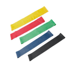 "CanDo® Band Exercise Loop - 5-Piece Set (15""), (1 each: Yellow, Red, Green, Blue, Black), 10 sets"