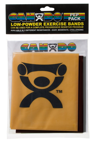 CanDoå¨-low-powder-exercise-band-pep-pack---challenging-with-black-silver-and-gold-band