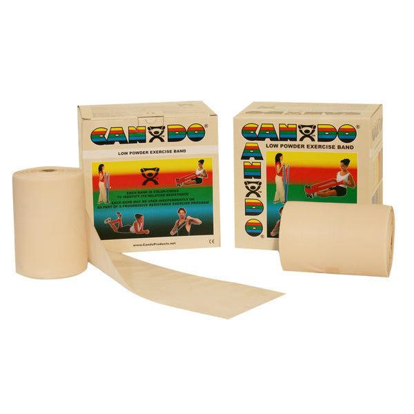CanDoå¨ Low Powder Exercise Band - 100 yard (2 x 50-yd rolls) - Tan - xx-light