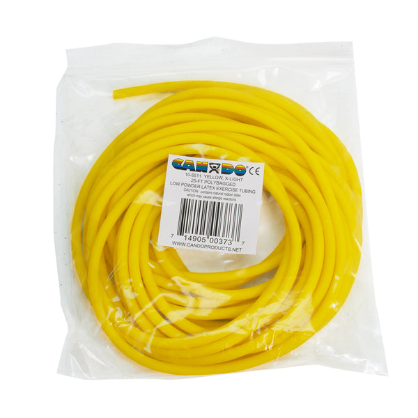 CanDoå¨ Low Powder Exercise Tubing - 25 foot roll - Yellow - x-light