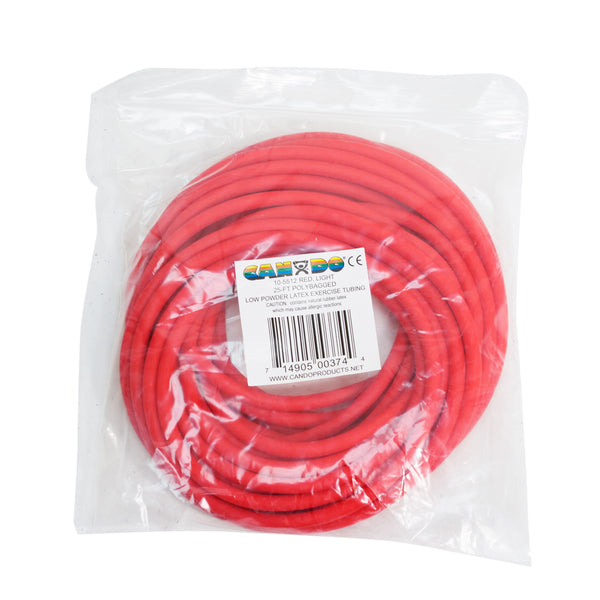 CanDoå¨ Low Powder Exercise Tubing - 25 foot roll - Red - light