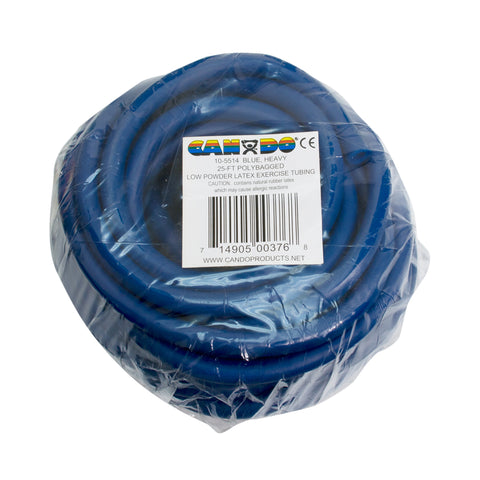 CanDo® Low Powder Exercise Tubing - 25 foot roll - Blue - heavy