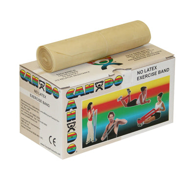 CanDo® No Latex Exercise Band - 6 yard roll - Tan - xx-light