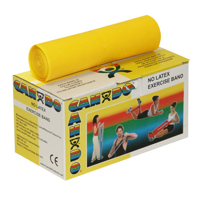 CanDo® Latex Free Exercise Band - 6 yard roll - Yellow - x-light