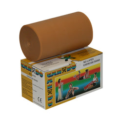 CanDo® No Latex Exercise Band - 6 yard roll - Gold - xxx-heavy