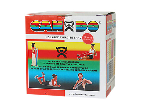 CanDo® Latex Free Exercise Band - 25 yard roll - Red - light