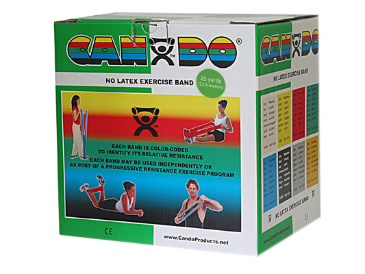 CanDo® No Latex Exercise Band - 25 yard roll - Green - medium