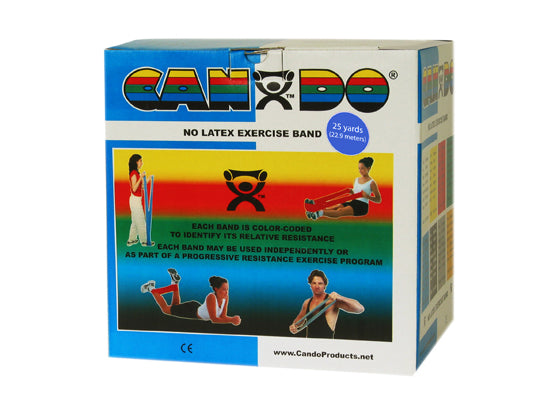 CanDo® No Latex Exercise Band - 25 yard roll - Blue - heavy