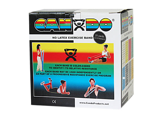 CanDo® No Latex Exercise Band - 25 yard roll - Black - x-heavy