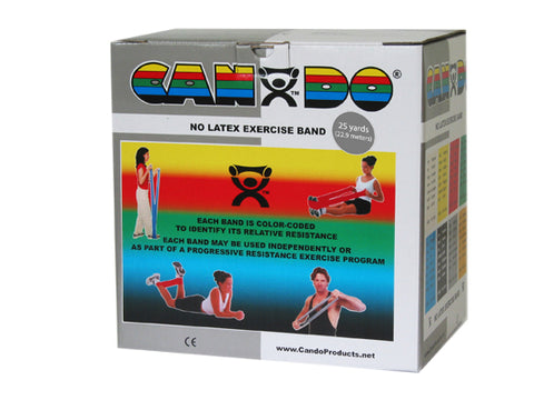 CanDo® Latex Free Exercise Band - 25 yard roll - Silver - xx-heavy