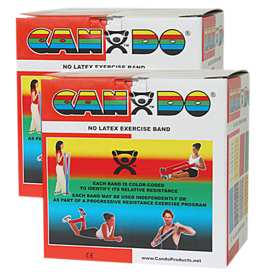 CanDo® Latex Free Exercise Band Rolls - 100 yard (2 x 50-yd rolls) - Red - light