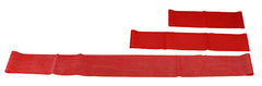 "CanDo® Band Exercise Loop - 3 Piece Set (10"", 15"", 30""), Red - light"
